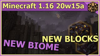 20w15a - Minecraft 1.16 Snapshot: Basalt Deltas Biome and Blackstone blocks