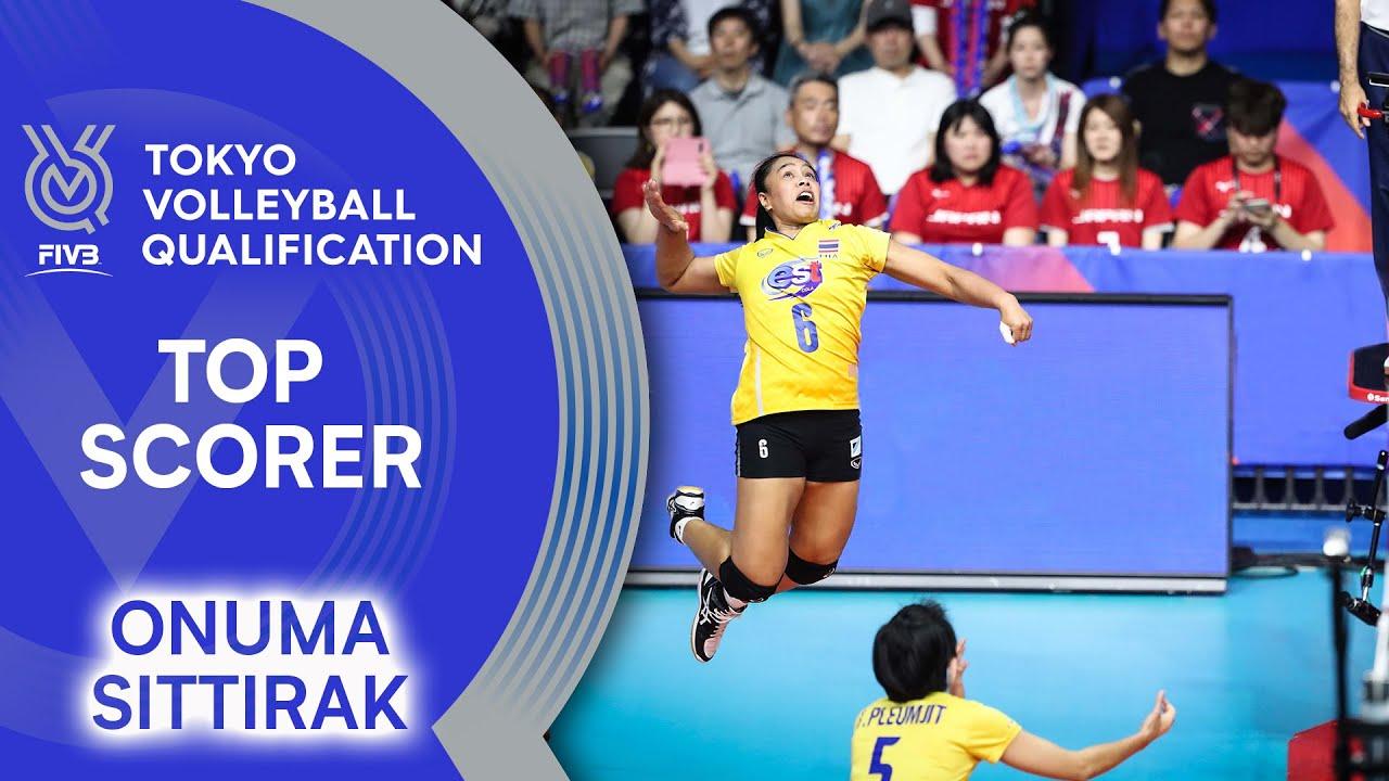 Onuma Sittirak Drops It Down Top Scorer Women S Volleyball Olympic Qualification 2019 Youtube