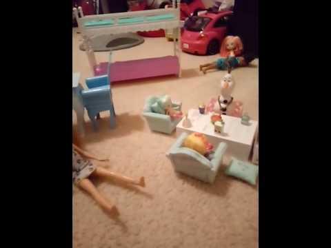 Barbie sleepover part 1