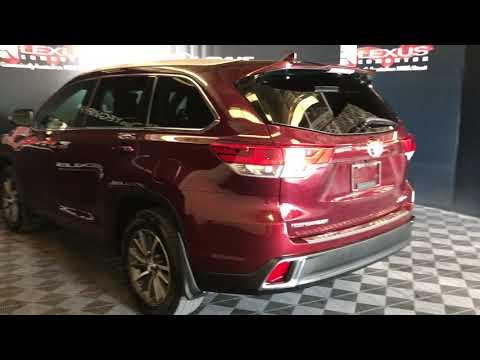 Red 2018 Toyota Highlander XLE Review Edmonton Alberta - Lexus of Edmonton