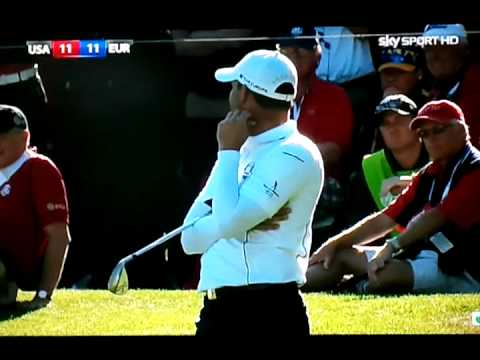 Furyk misses the put at 16 ryder cup final day