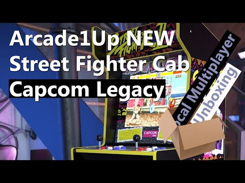 Arcade1Up Street Fighter NEW Capcom Legacy Arcade 2021 - Unboxing from Local Multiplayer