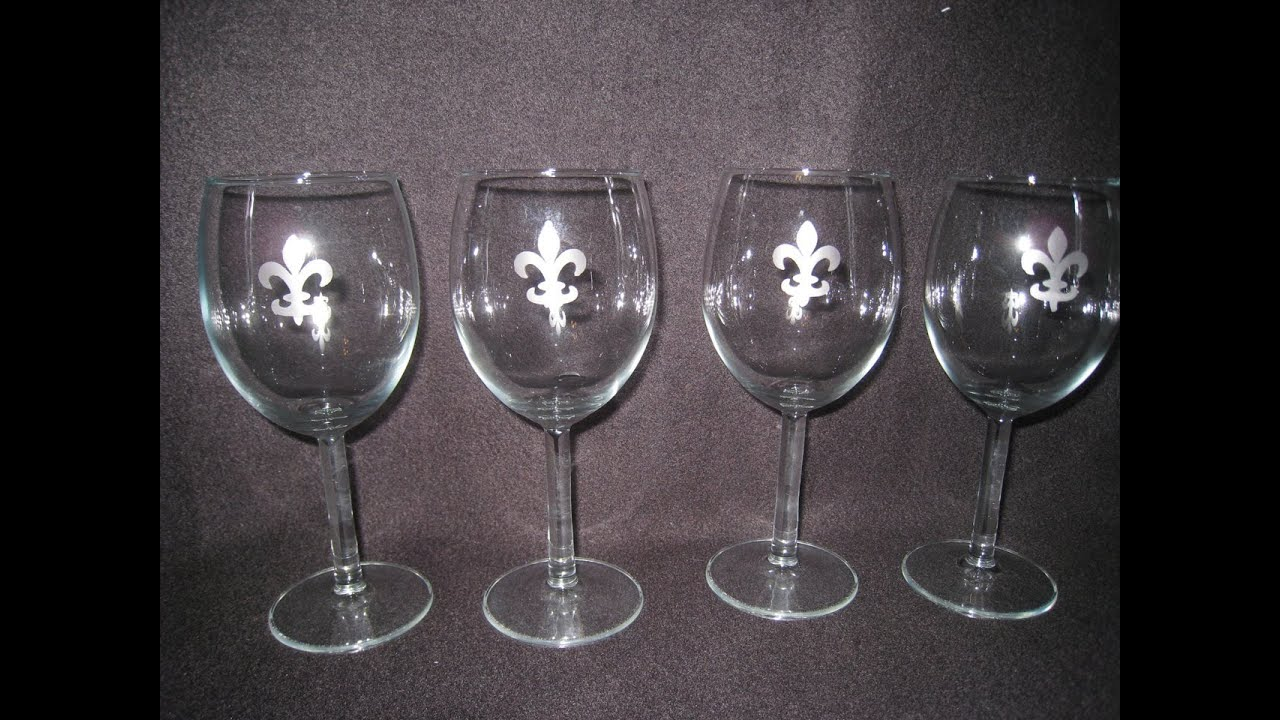 Glass Etching Craft How To Create Custom Wine Glasses