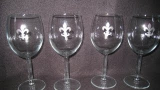 Glass Etching Craft: How To Create Custom Wine Glasses - Updated