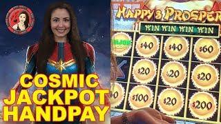 Captain Marvel hits Major Jackpot Handpay   Lady Luck HQ