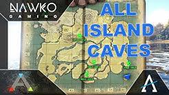 ARK Höhlen The Island - Land Höhlen - Alle Höhlen auf dem Land mit Map!