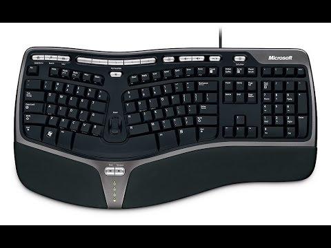 4a10542c03b Microsoft Natural Ergonomic Keyboard 4000 Review - YouTube