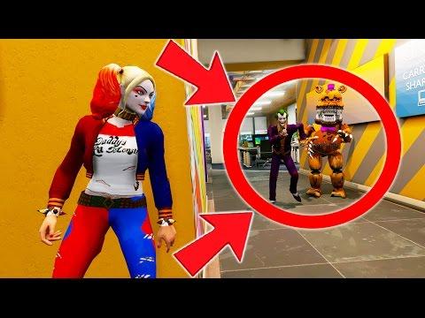 CAN HARLEY QUINN HIDE FROM NIGHTMARE FREDBEAR & JOKER? (GTA 5 Mods For Kids FNAF Funny Moments)