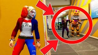 CAN HARLEY QUINN HIDE FROM NIGHTMARE FREDBEAR & JOKER? (GTA 5 Mods For Kids FNAF Funny Moments)