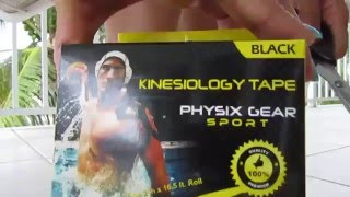 BEST KINESIOLOGY TAPE - CUSTOMER REVIEW - Unboxing - Physix Gear Sport