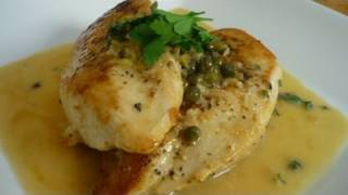 Chicken Piccata With Lemon Zest And Fresh Thyme