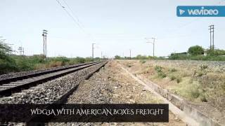 WDG3A CHHUGGING WITHOUT SMOKING WITH AMERICAN BOXES FREIGHT!!!!