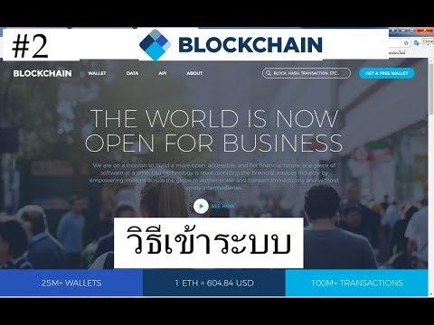 Blockchain.info Wallet #2 วิธี เข้าระบบ