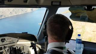 Cockpit View Of Landing At Honningsvåg Airport, Valan,  Enhv