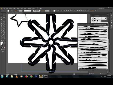 ILLUSTRATOR TUTORIAL Class 7 | Creating Custom Brushes & Graphic Style Tools | URDU/HINDI thumbnail