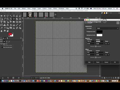 How to show grid in GIMP | Configure grid in GIMP thumbnail