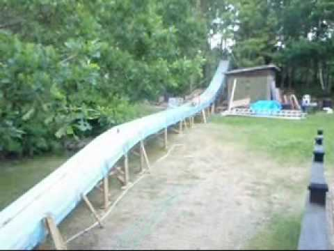 Homemade Waterslide 2010 Edition - YouTube