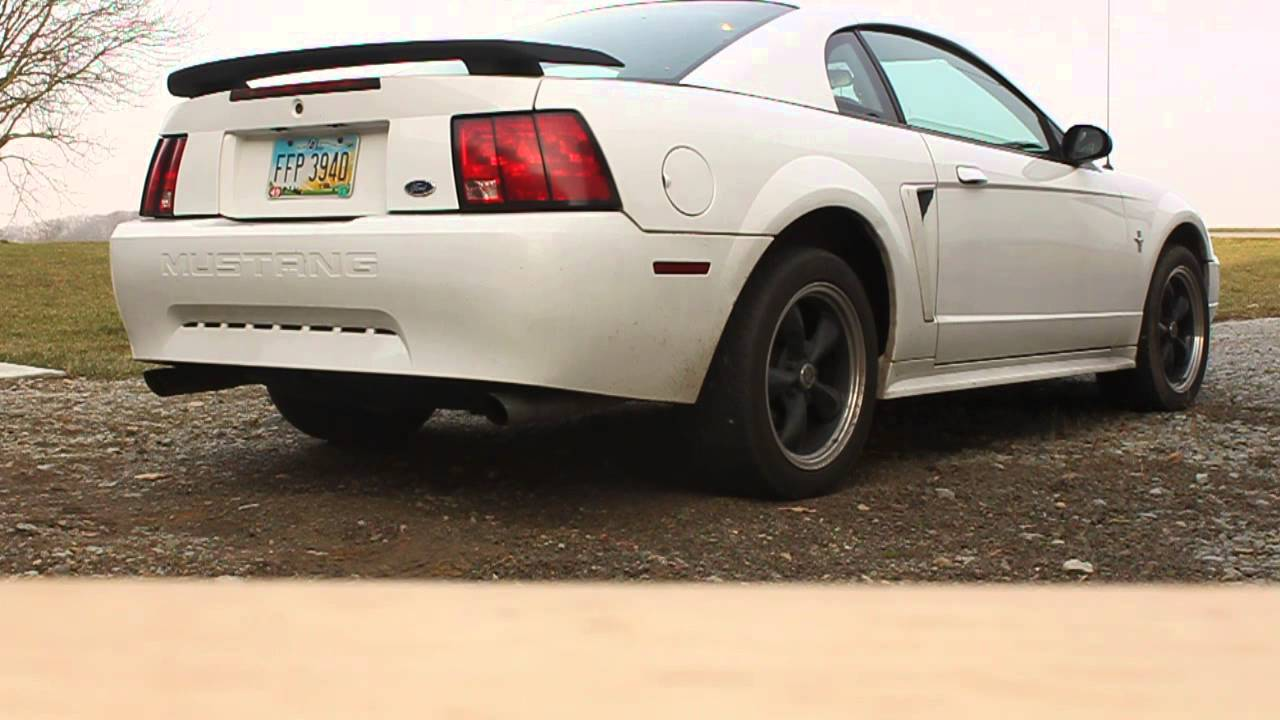 2001 Ford Mustang V6 Thrush Exhaust No Cats Youtube