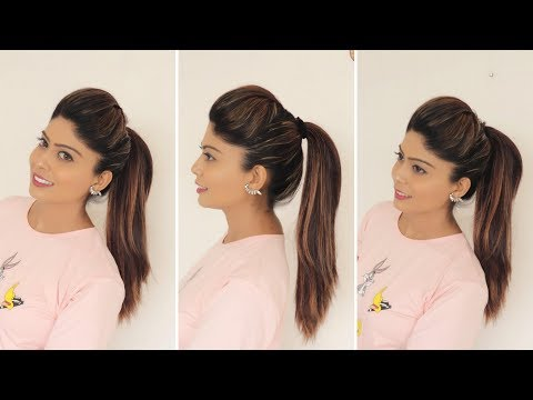download 1 minute perfect High ponytail with Puff | Tips & Tricks | Rinkal Soni