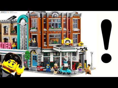 Walkthrough & thoughts: LEGO Corner Garage modular reveal