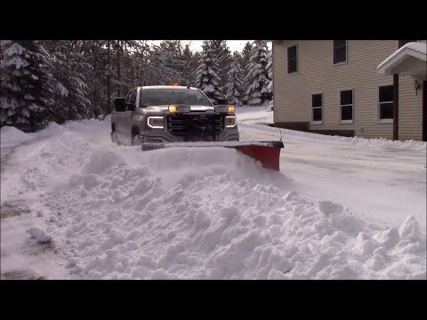Finishing snow removal, talking trucks and forgotten customer