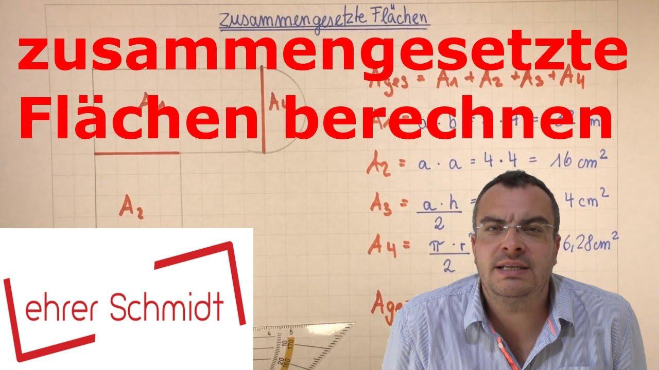 Mathe übungen Zusammengesetzte Flächen : Zusammengesetzte flächen berechnen mathematik