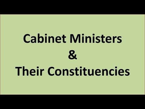 Cabinet Ministers And Their Constituencies 2017 ( Must Watch)