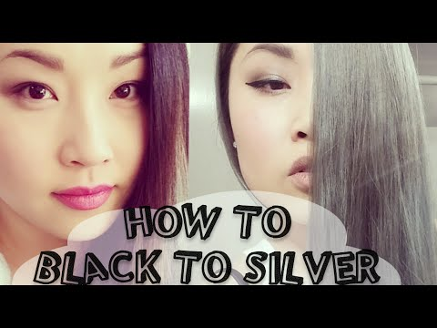 How to secret to bleaching dark asian hair silver grey granny how to secret to bleaching dark asian hair silver grey granny hair with dark roots diy ninja solutioingenieria Gallery