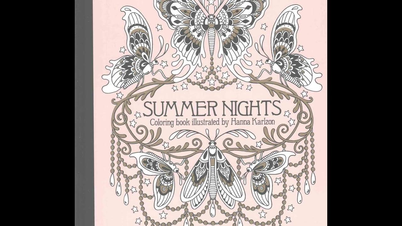 Summer Nights Coloring Book - flip through