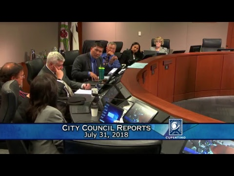 Cupertino City Council Meeting - July 31, 2018