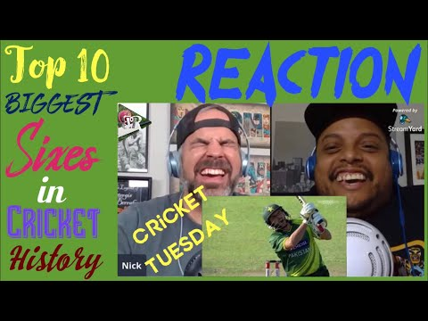Top 10 Biggest Sixes In Cricket | Cricket Reaction | Cricket Tuesday