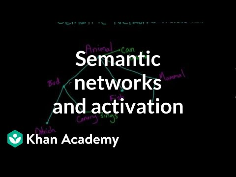 Semantic networks and spreading activation | Processing the Environment | MCAT | Khan Academy