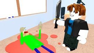 What Happens If You Kill Baldis Basics? (Roblox Animation)