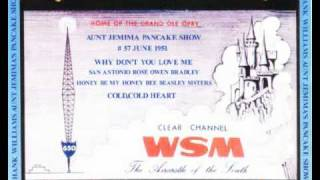 Hank Williams -  Aunt Jemima Show