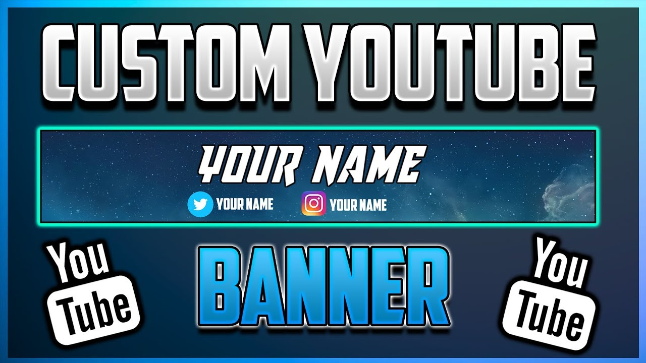 How to make a youtube banner for free no photoshop pixlr tutorial youtube - Youtube banner pictures ...