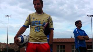 Mario Götze at UCLA plays Willie at soccer tennis