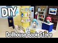 DIY Miniature Book Store or Library Dollhouse Kit Large Shop! / Relaxing Crafts