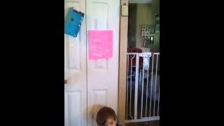 Autistic child learning to go in potty