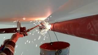 Oksijen kaynak yangın springler hattı