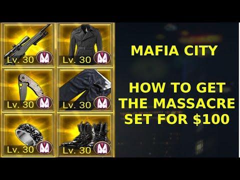 Mafia City How To Get The Massacre Set For 100 Youtube