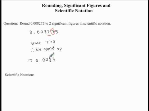 Rounding Significant Figures And Scientific Notation Example 1