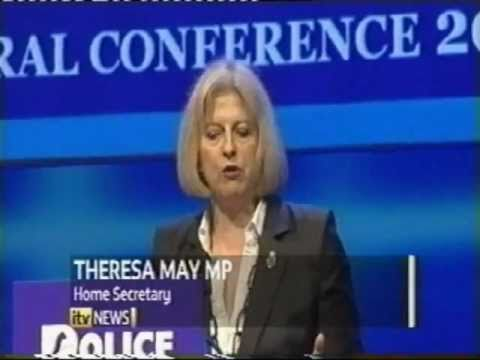 Police fear 20% cuts - Federation Conference 2011 - Home Secretary Theresa May - PC David Rathband