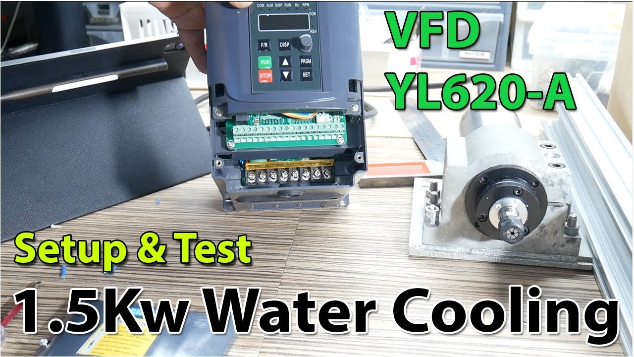 Setting Up Testing Chinese Vfd And Spindle 1 5kw Water Cooled Youtube