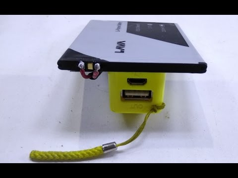 How to Make Power Bank Using Old Cell Phone Battery - DIY Power bank