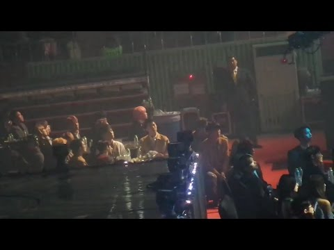 170222 EXO BTS Reaction to GOT7 FLY + Hard Carry @ Gaon Chart Music Award