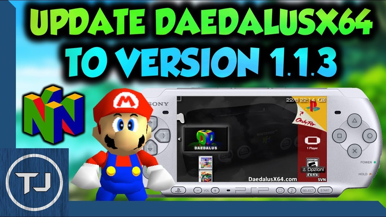 PSP/PS Vita How To Update DaedalusX64 To Version 1 1 3