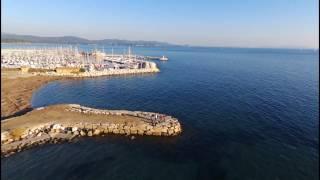 La Londe Miramar et la baie des iles en drone décembre 2016