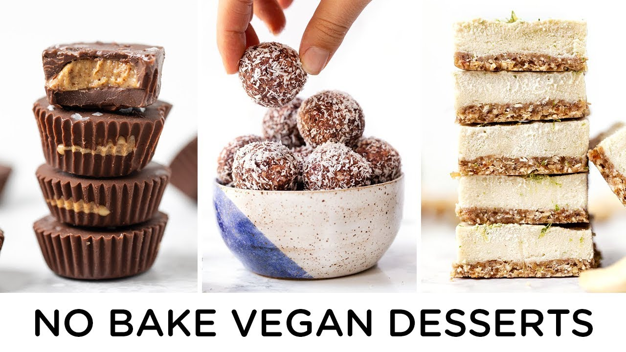 HEALTHY VEGAN NO BAKE DESSERTS ‣‣ easy to make!
