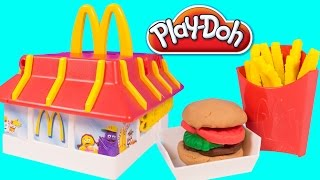 Play Doh Mcdonald's Restaurant Playset Make Burgers Icecream French Fries Chicken Mcnuggets Toy Food