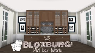 Roblox Bloxburg: Mini bar tutorial!